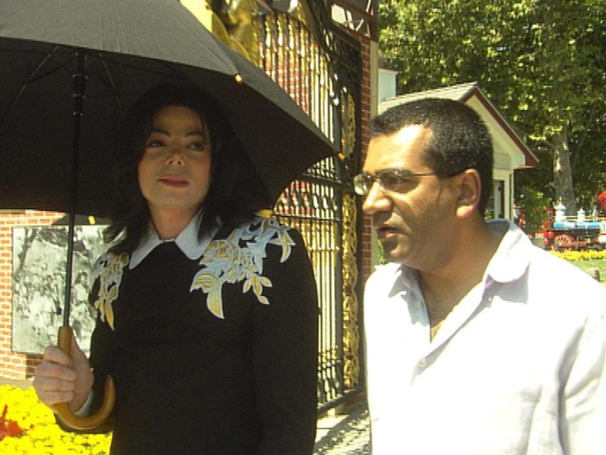 "Michael Jackson, left, during an extensive interview with the British journalist Martin Bashir for the 2003 TV special ""Living With Michael Jackson.""Credit...Granada"