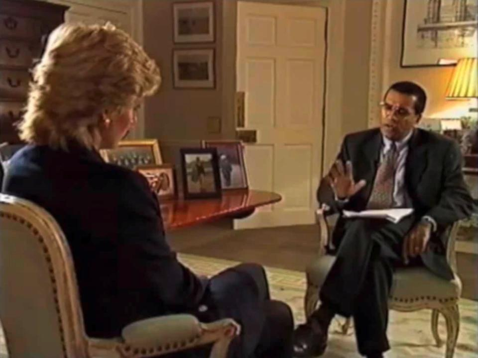 The famous Martin Bashir interview was filmed in 1995 without the Palace knowing Credit: BBC