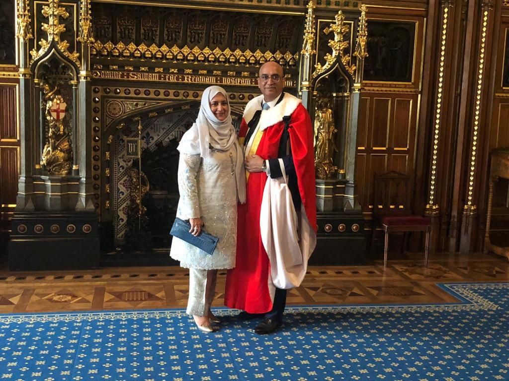 Baron Choudrey introduced to House of Lords