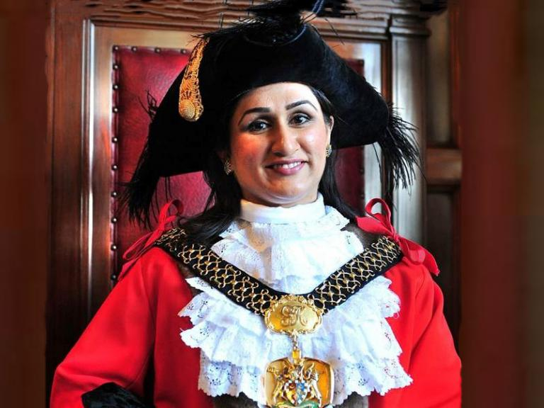 Naveeda Ikram, a Pakistani-born Briton, is the United Kingdom's first lord mayor to be both Muslim and a woman